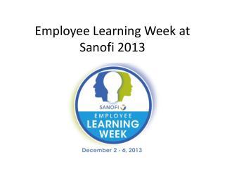 Employee Learning Week at Sanofi 2013