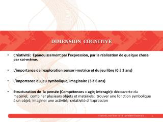 Dimension  cognitive