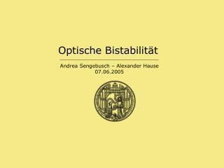 Optische Bistabilität