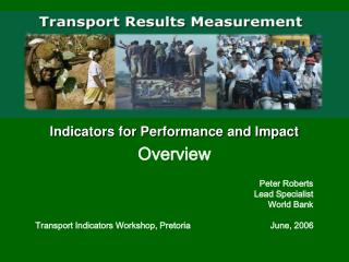 Indicators for Performance and Impact