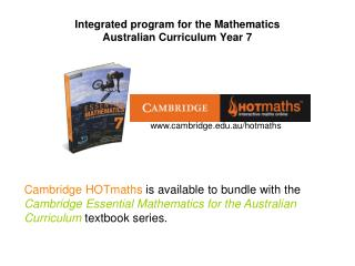 Integrated program for the Mathematics  Australian Curriculum Year 7