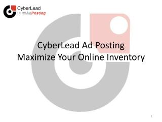 CyberLead Ad Posting Maximize Your Online Inventory