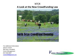 NTCR  A  Look at the New CrowdFunding Law