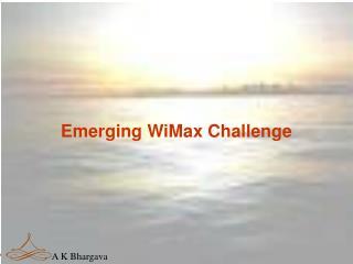 Emerging WiMax Challenge