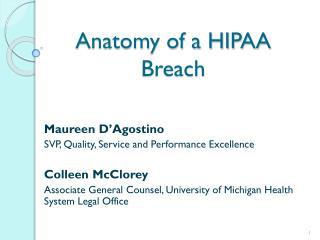 Anatomy of a HIPAA Breach