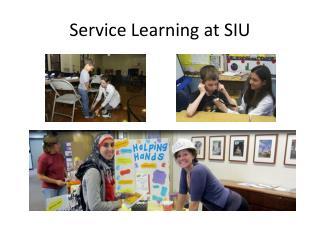 Service Learning at SIU