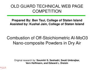 OLD GUARD TECHNICAL WEB PAGE  COMPETITION