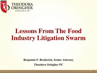 Lessons From The Food Industry Litigation Swarm