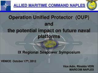ALLIED MARITIME COMMAND NAPLES