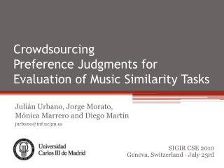 Crowdsourcing Preference Judgments for Evaluation of Music Similarity Tasks