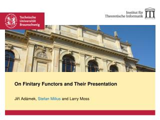 On  Finitary Functors and Their Presentation