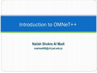 Introduction to OMNeT++