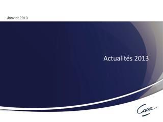 Actualit�s 2013