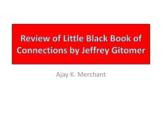 Review of Little Black Book of Connections by Jeffrey Gitomer