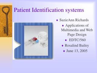 Patient Identification systems