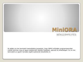MiniORA