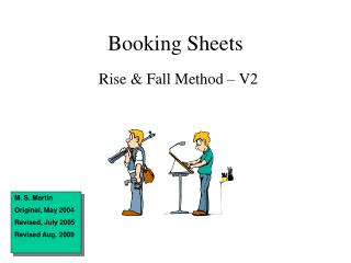 Booking Sheets