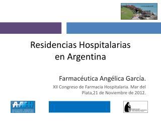 Residencias Hospitalarias  en Argentina
