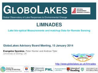 LIMNADES GloboLakes  Advisory Board Meeting, 15 January 2014