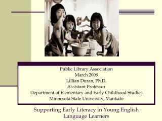Supporting Early Literacy in Young English Language Learners