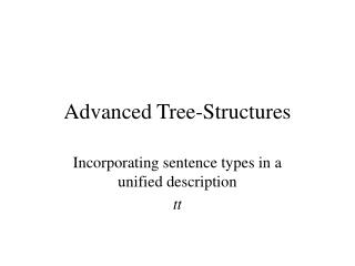 Advanced Tree-Structures