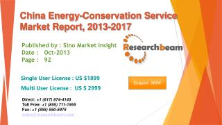 China Energy-Conservation Service Market Size 2013-2017