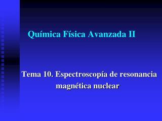 Química Física Avanzada II