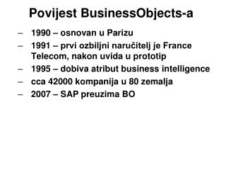 Povijest BusinessObjects-a