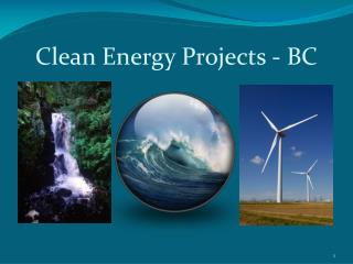 Clean Energy Projects - BC