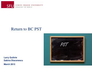 Return to BC PST