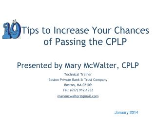 Tips to Increase Your Chances of Passing the CPLP