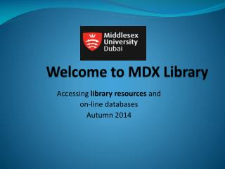 Welcome to MDX Library