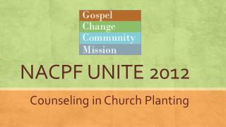 NACPF UNITE 2012