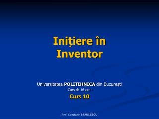 Ini?iere �n Inventor