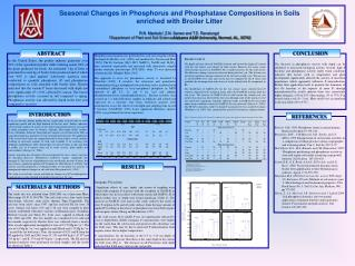 Seasonal Changes in Phosphorus and Phosphatase Compositions in Soils  enriched with Broiler Litter