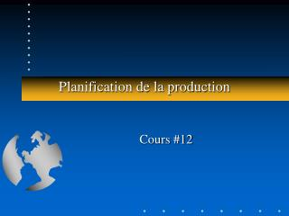 Planification de la production