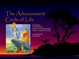 The Advancement Circle of Life