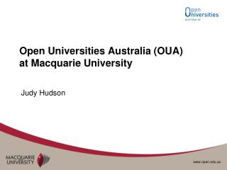 Open Universities Australia (OUA) at Macquarie University