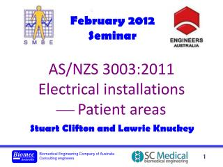 AS/NZS 3003:2011 Electrical installations ?  Patient areas