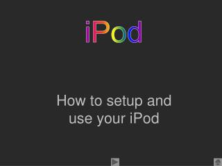 How to setup and use your iPod