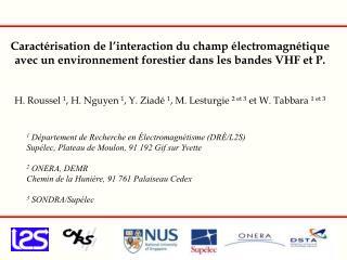 Caract risation de l interaction du champ  lectromagn tique avec un environnement forestier dans les bandes VHF et P.