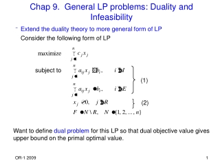 Duality theorems Finding the dual optimal solution from the primal optimal tableau