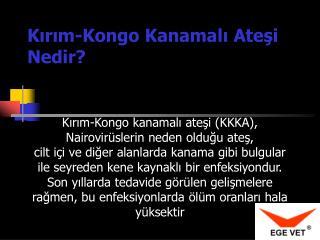 Kırım-Kongo  K anamalı  A teşi  N edir?
