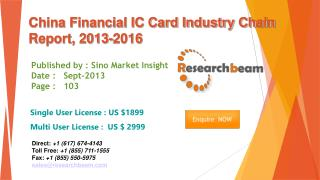China Financial IC Card Market Size, Share 2013-2016