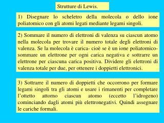 Strutture di Lewis.