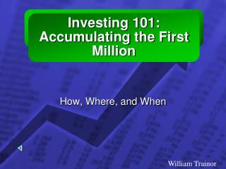 Investing 101:  Accumulating the First Million