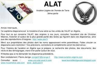 ALAT Aviation Légère de l'Armée de Terre 3ème partie