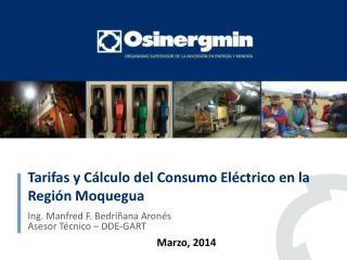 Tarifas  y  C�lculo  del  Consumo El�ctrico  en la Regi�n  Moquegua