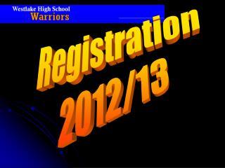 Registration 2012/13