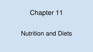 Chapter 11 Dairy Products and Eggs